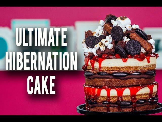 how-to-make-my-ultimate-hibernation-cake-piled-high-with-cheesecake-cherries-brownies-ganache