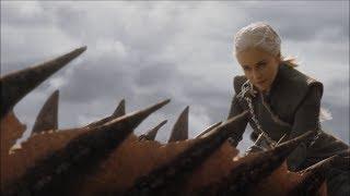 Daenerys Targaryen the Dragon Rider - Lannister Battle Dragon Scenes - Season 7x04