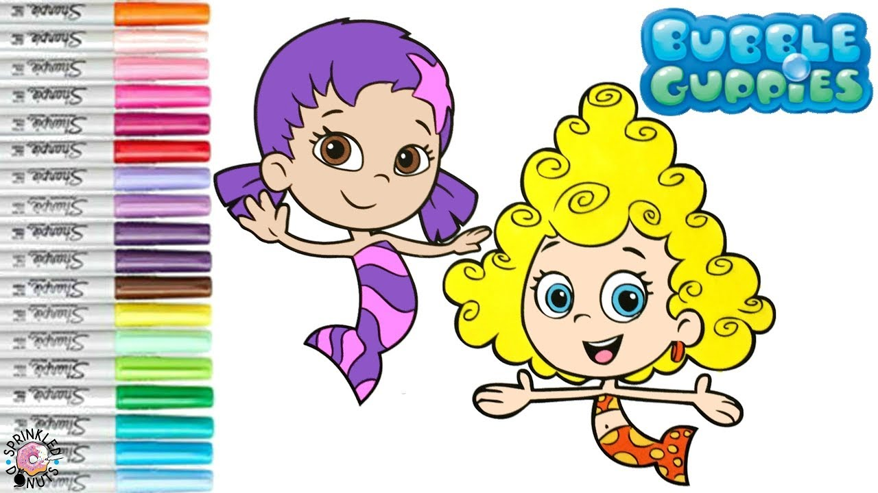 Bubble Guppies Coloring Book Page Deema and Oona Nick Jr Coloring ...