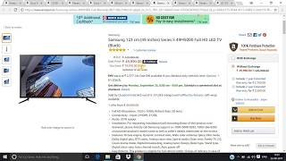 Best 10 offers on T.V. on amazon great indian sale 2017! in hindi ! LG,Sony,Panasonic,etc.