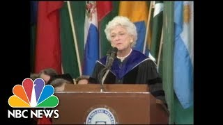 Barbara Bush Delivers Wellesley College Commencement Speech | NBC News