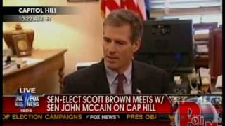 Mr. Brown Goes to Washington, Pays Early Supporter McCain the First Visit