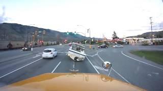 Boat Falls off Trailer Hwy 1 Kamloops B.C.