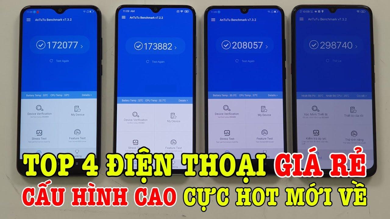 Top 4 điện thoại GIÁ RẺ CẤU HÌNH CAO cực hot vừa bán ra