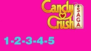 Candy Crush saga Livelli1-2-3-4-5 levels 1-2-3-4-5