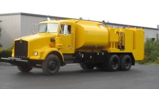 Heavy duty off-road mining, construction fuel lube service truck on KW T800 by Hamilton Equipment