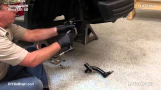 yamaha drive 6 spindle lift kit   how to install on golf cart