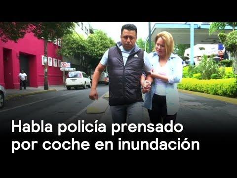 Policía prensado por coche en CDMX - Inundaciones - En Punto con Denise Maerker