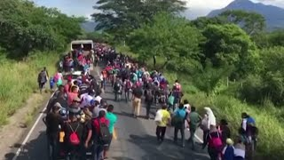 A new migrant caravan: 2,000 Honduran migrants traveling toward Mexico