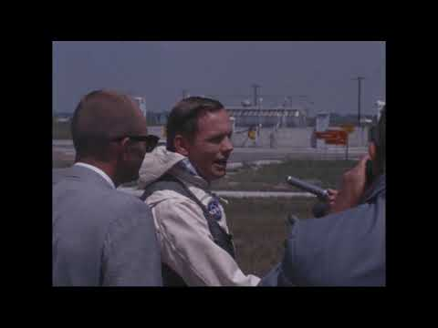 MSC (AV) - Astronaut Armstrong Training in the LLTV (June 16, 1969)