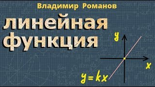 алгебра ЛИНЕЙНАЯ ФУНКЦИЯ ЕЕ СВОЙСТВА И ГРАФИК 7 класс