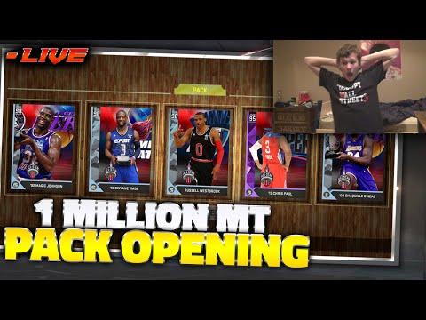 1 MILLION MASSIVE ALL STAR PACK OPENING LIVE STREAM! - NBA 2K16