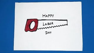 HOW TO DRAW LABOR DAY DRAWING | Easy labour day Drawing poster