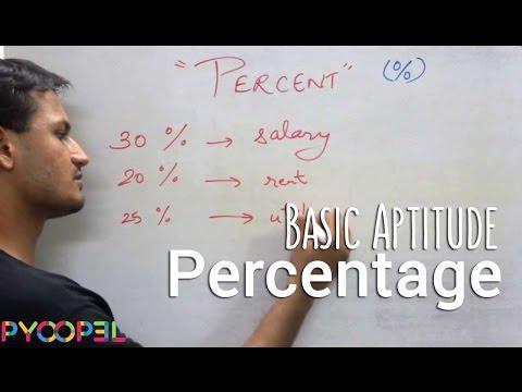 Percentage Theory (Aptitude Test) Video l Pyoopel.com
