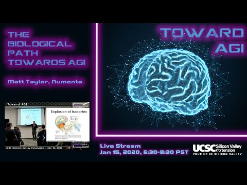 The Biological Path Toward AGI (Matt Taylor's talk from UCSC Silicon Valley Meetup Jan 2020)