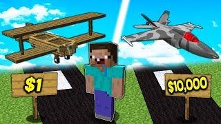 ДОРОГОЕ или ДЕШЕВОЕ Самолёт в Майнкрафт ! ЧТО ВЫБЕРЕТ НУБ? Неудачник Нуб Мультик и Что Купит Нуб