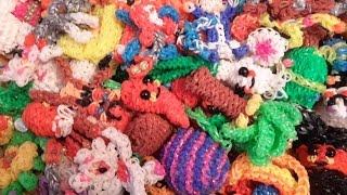 Обзор#3 на ПОПОЛНЕНИЕ игрушек из резинок Rainbow Loom