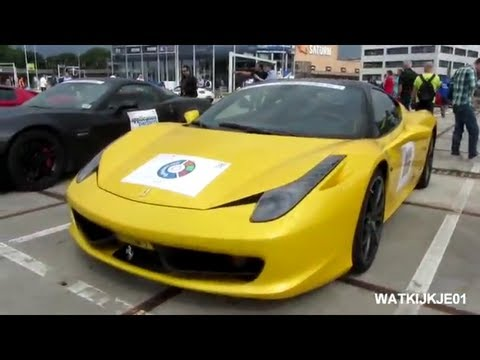 Ferrari 458 Italia Black On Yellow (1080p Full HD)