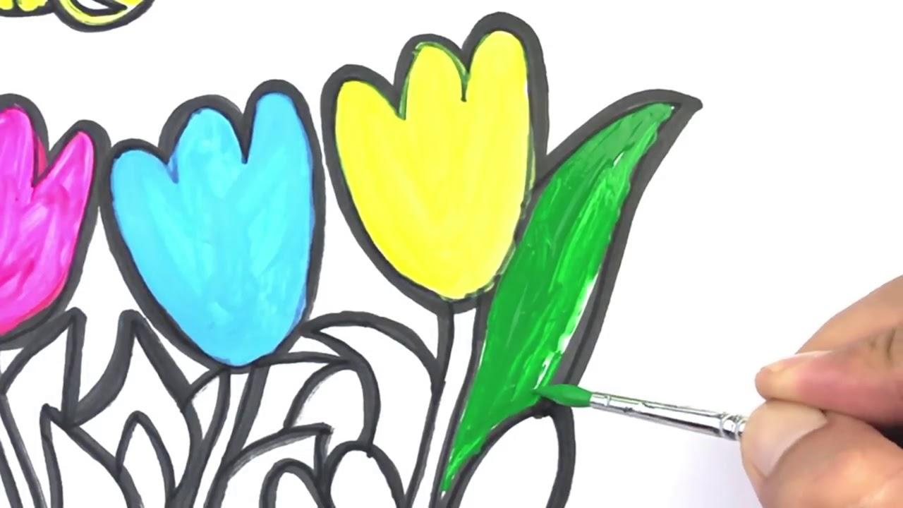 Ari Ve Cicek Boyama Cocuklar Icin Renkleri Ogrenmek Cocuklar Icin