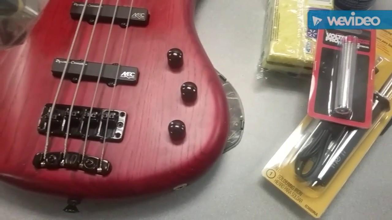 medium resolution of emg jv52 passive jazz bass pickup set solderless install for warwick rh youtube com bass guitar humbucker pickup wiring j bass wiring diagram