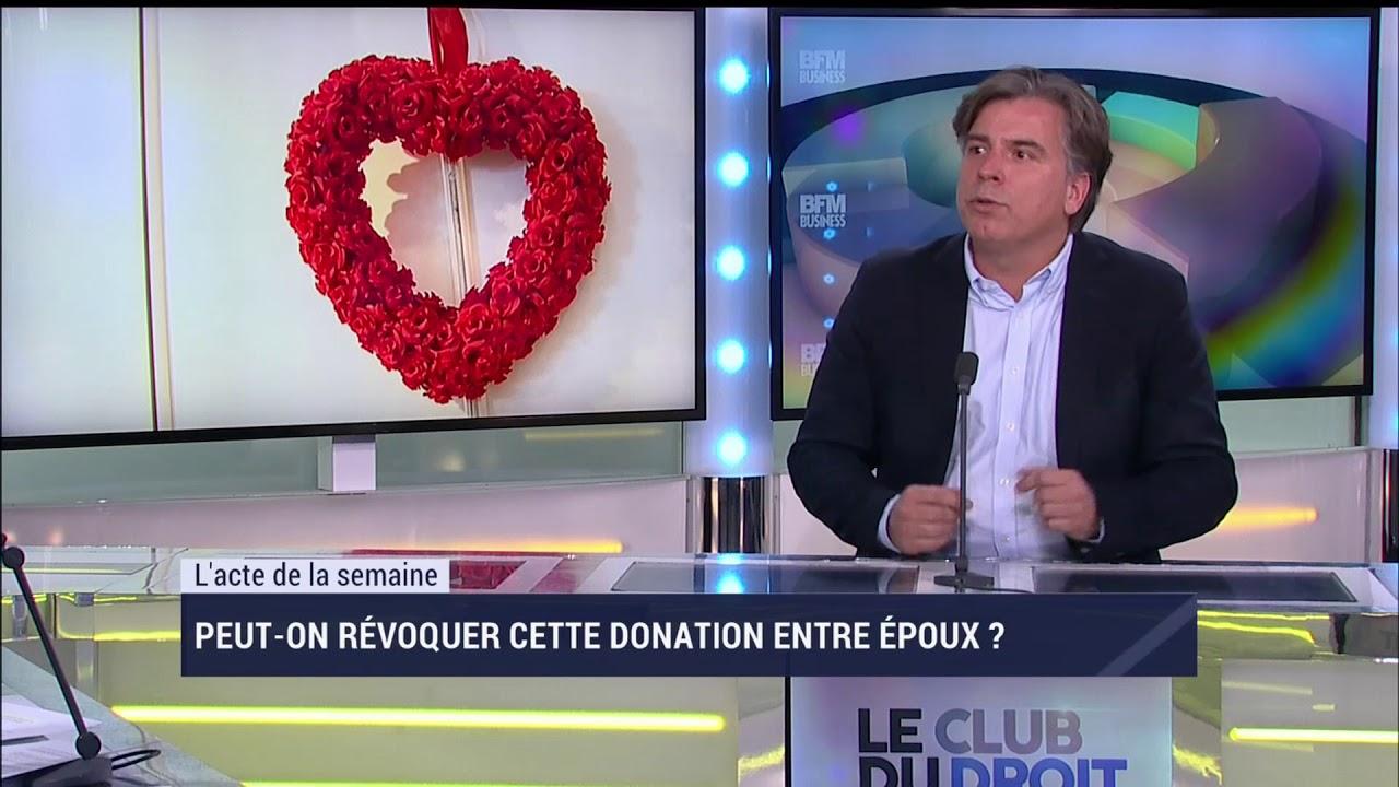 La Donation Entre Epoux Le Club Du Droit Youtube