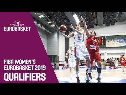 Czech Republic v Switzerland - Full Game - FIBA Women's EuroBasket 2019 Qualifiers