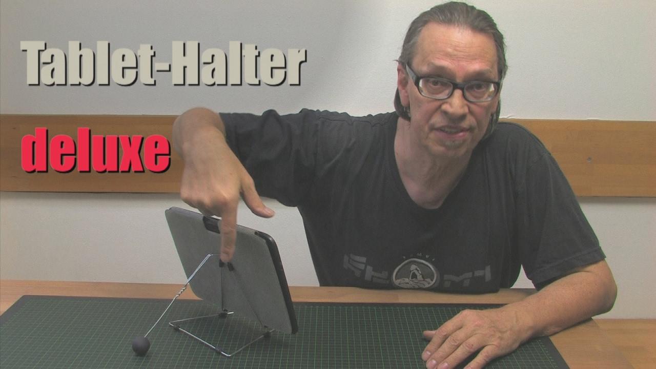 diy einen originellen tablet halter selber bauen 2 aufpimpen youtube. Black Bedroom Furniture Sets. Home Design Ideas