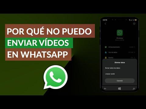 Por qué NO Puedo Enviar Vídeos en WhatsApp – Solución