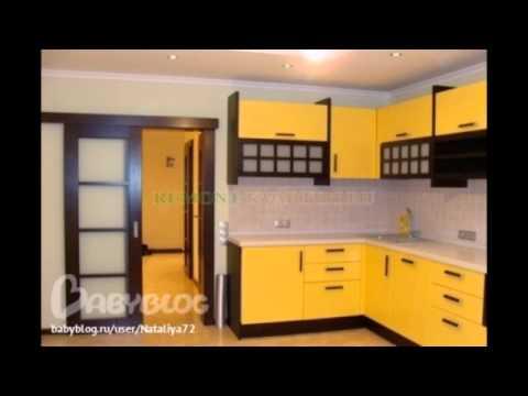 Черно-желтые кухни подборка фото