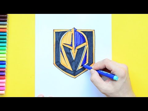 How to draw the Vegas Golden Knights Logo (NHL Team)