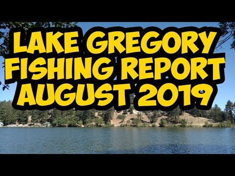 Lake Gregory Fishing  Report August 2019