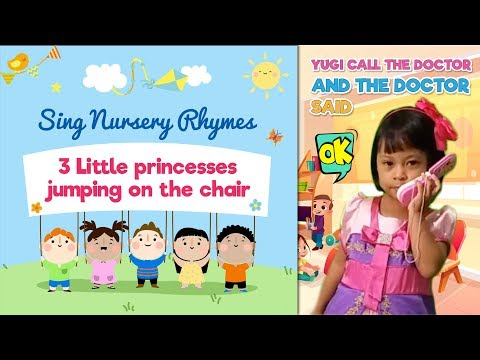 three little princess jumping on the chair | Sing along Nursery Rhymes