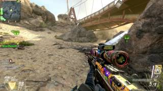 CoD BO2 PC: DSR-50 Sniper going Nuclear #2 on Turbine Map - Ground War Domination 32-0