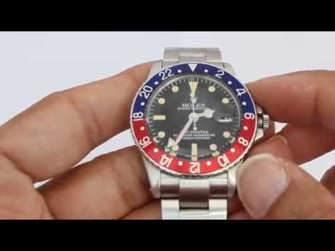 Vintage Rolex GMT Pepsi Ref 1675