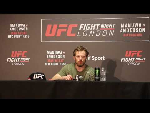 Post Fight Press Conference with Gunnar Nelson at UFC London