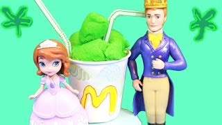 Sofia the First McDONALDS Shamrock Shake for Father Daughter Date Night Disney Princess PLAY-DOH