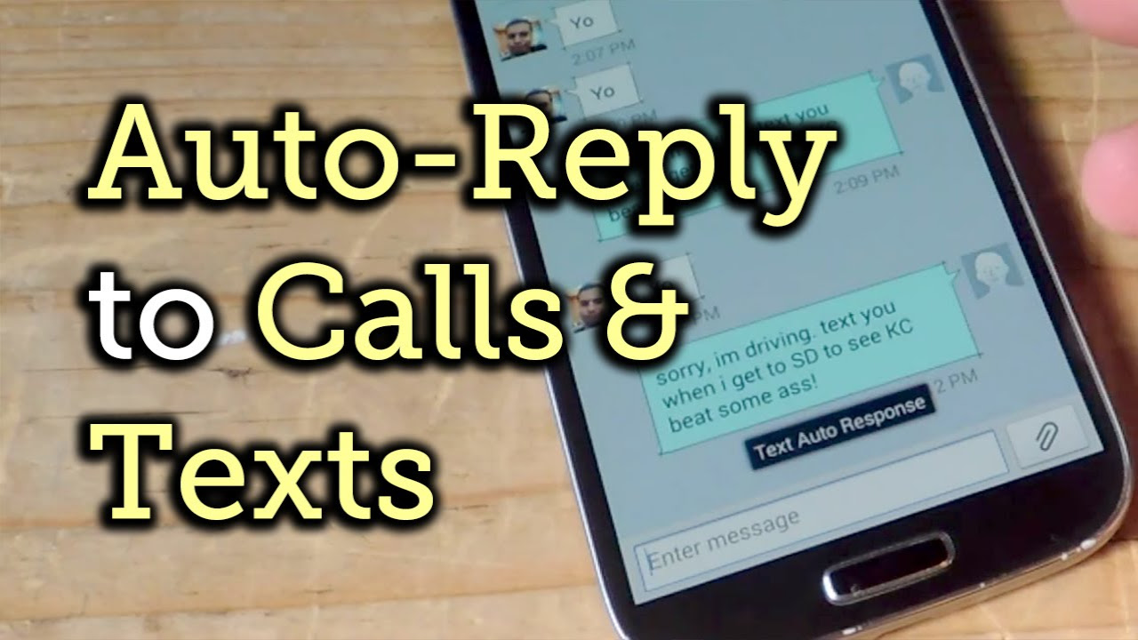 Auto Reply to a Phone Call With a Text