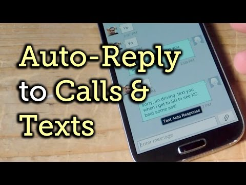 Auto-Reply to Missed Called & Texts on Android [How-To] - YouTube