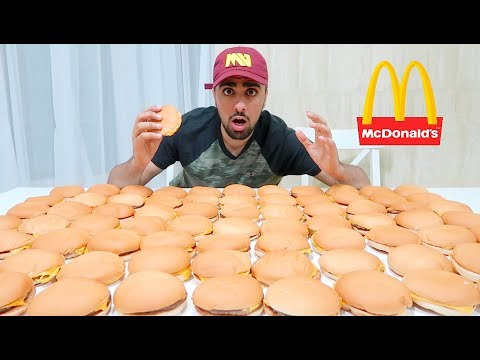 EATING 100 MCDONALDS BURGERS (IMPOSSIBLE) *100,000 CALORIES*