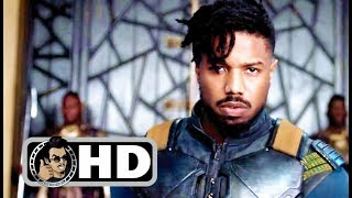BLACK PANTHER Movie Clip - Killmonger Justice + Trailer (2018) Marvel Superhero Movie HD