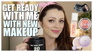GET READY WITH ME   New Drugstore & High End Makeup
