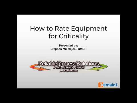 Best Practices Webinar: Asset Criticality for Proactive Maintenance