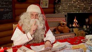 La felicitación de navidad de Papá Noel Santa Claus: mensa...