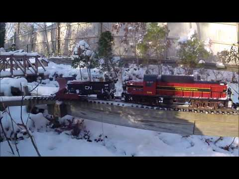 G Scale Trains in the Snow