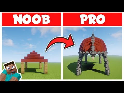Minecraft NOOB Vs PRO: BUILDING DOMES LIKE A GOD In Minecraft