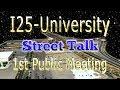 i25-University Improvement Project 1st Public Meeting