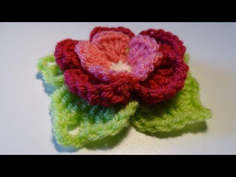 Crochet 3D Flower - 3D Bloem Haken