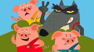Приключения Трех Поросят.Интерактивная сказка.Мультики для детей и малышей