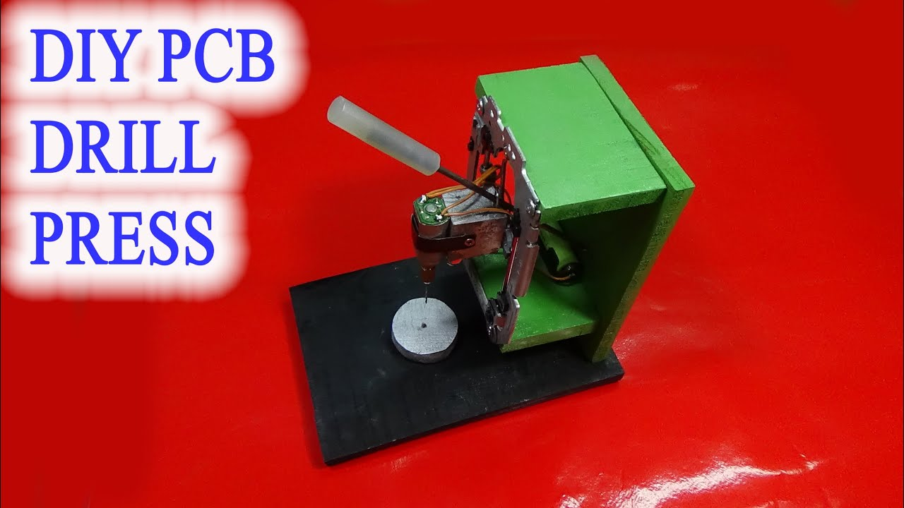 Homemade Mini Diy Pcb Drill Press Table From Rails Cd