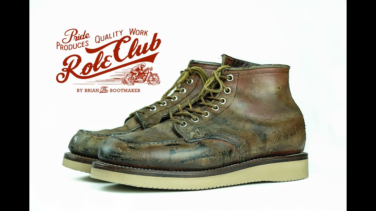 Red Wing Moc Toe 875 Resole #3 - YouTube